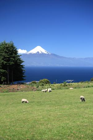 Volcano Osorno and Llanquihue lake, Chile