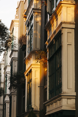 Archutectural detail in La Condesa neighborhood, Mexico City Stock Photo