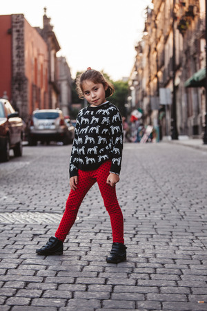 A little girl in the streets of Mexico City