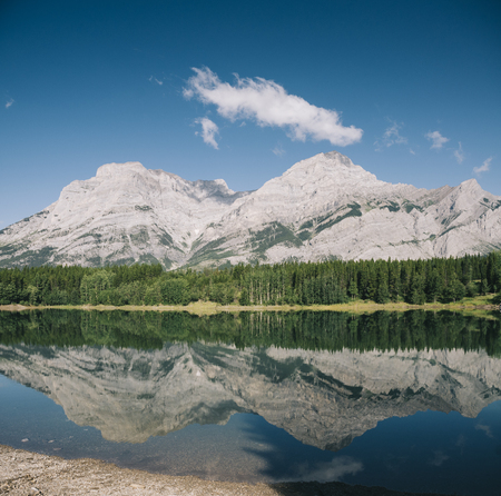 Lake in Banff National Park, Canadian Rockies