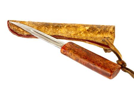 Vieux couteau de chasse yakutien Banque d'images - 78132564
