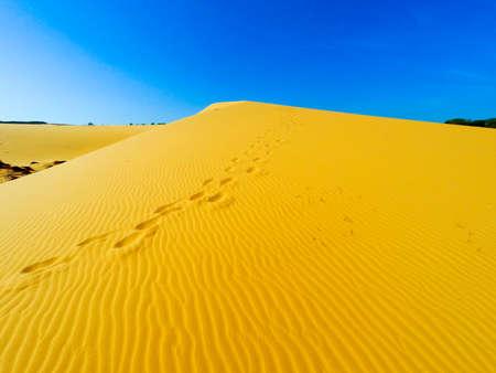 sandhills: White Sand Dunes, Mui Ne, Vietnam