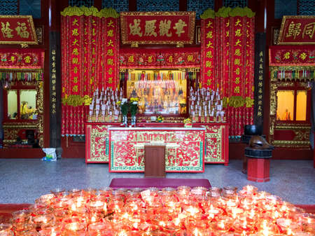 quan yin: Oldest Chinese temple on Penang was built in honour of the Chinese Goddess of Mercy. Georgetown, Malaysia. Editorial