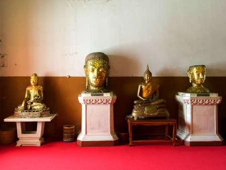 phra nakhon si ayutthaya: Statues In Buddhist Temple. Phra Nakhon Si Ayutthaya, Ayutthaya, Thailand. Editorial
