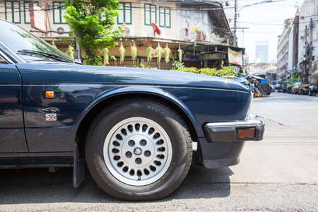 sovereign: BANGKOK, THAILAND - APRIL 24: Jaguar Sovereign parked on the street of Bangkok on March 24, 2016 in Bangkok, Thailand.