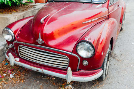 morris: GEORGE TOWN, MALAYSIA - MARCH 24: Morris Minor 1000 parked on the street of George Town on March 24, 2016 in George Town, Malaysia.