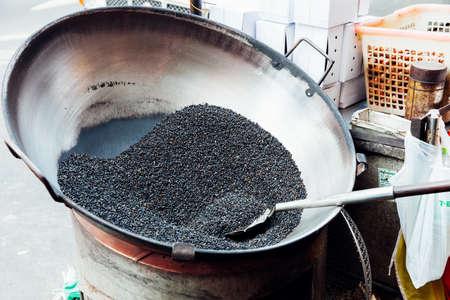 Roaster: Chestnut roaster on the street of Bangkok Chinatown