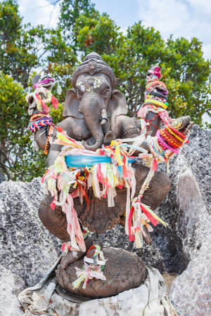 Ganesh statue in Tiger Cave Temple. Krabi, Thailand.