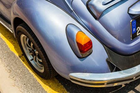 taillight: KUALA LUMPUR, MALAYSIA - AUGUST 03: Volkswagen Beetle parked on the street of Kuala Lumpur on August 03, 2016 in Kuala Lumpur, Malaysia. Editorial