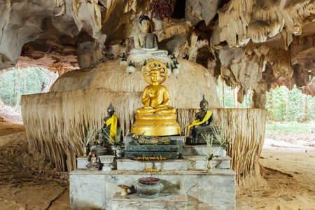Image of Buddha in the cave. Tiger Cave Temple, Krabi, Thailand. Stock fotó