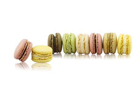 isolees: Macarons on white background  Stock Photo