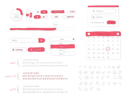 Doodle UI Kit Illustration