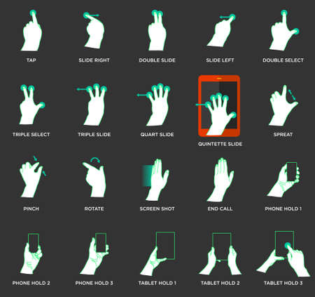 nudge: Gesture icons for touch devices