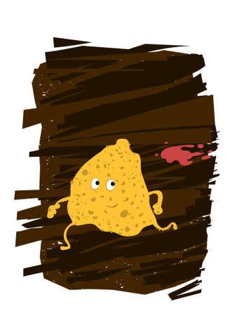 prepared potato: Potato Chips Character