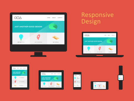 computer monitor: Responsive Web Design Illustration