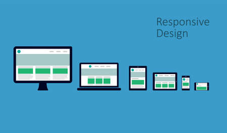 responsive design: Responsive Web Design Illustration