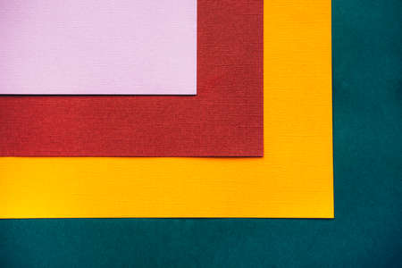 Colorful Square blank background in warm colors, terracotta orange, dark green, violet, and yellow hues.
