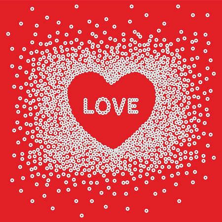 Heart Love Sequin Artwork