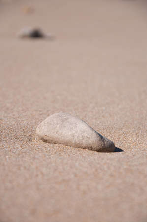 Stone on the sand