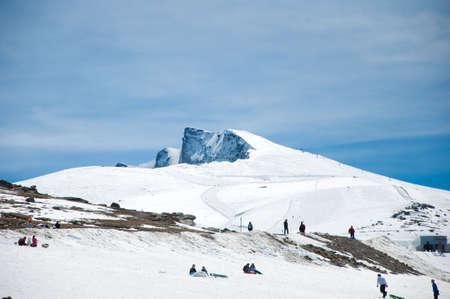 top of a mountain called Veleta in Sierra Nevada