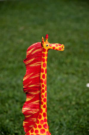 adornment: Giraffe of wood of adornment
