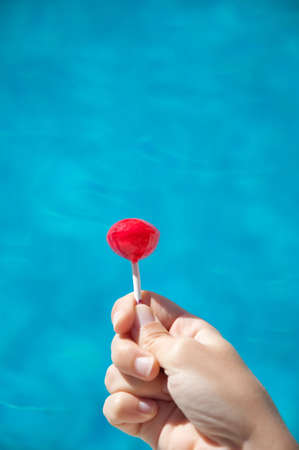 lollipops water background Stock Photo
