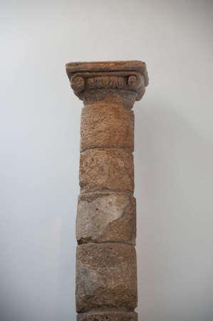 Roman column in ruins Stock Photo