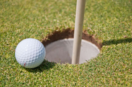 golf hole with ball and flag Stock Photo - 7493358