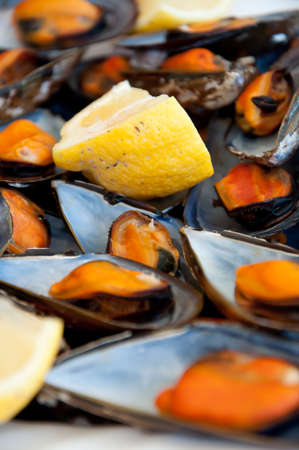 mussels boiled with a squeeze of lemon