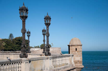 Viewpoint of the mall in Cadiz Stock Photo