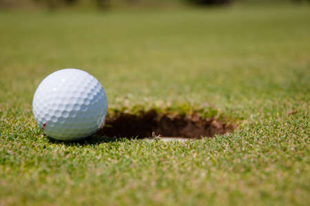 golf hole with ball Stock Photo - 7858890