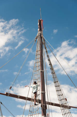 Mast of the replica of a Columbus's ship Stock Photo - 7903775