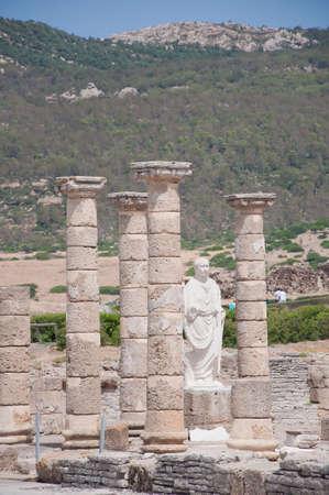 Ruins Roman of Baelo Claudia in Bolonia beach, Tarifa, Cadiz