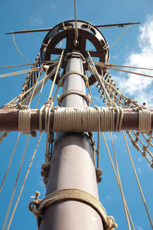 Mast of the replica of a Columbus's ship Stock Photo - 7981313