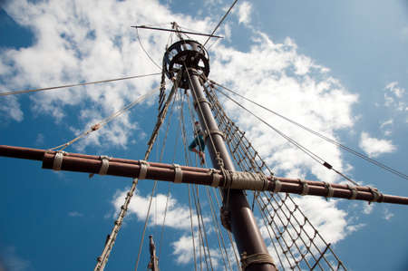 Mast of the replica of a Columbus's ship Stock Photo - 7981318