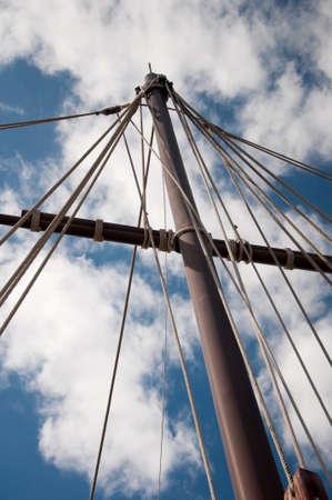 Mast of the replica of a Columbus's ship Stock Photo - 8055716