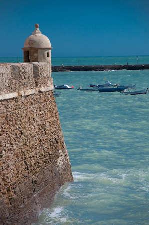 Viewpoint of the Caleta in Cadiz