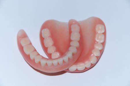 Closeup of a denture from the mouth