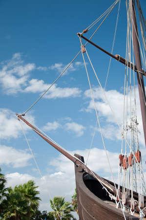 Bow of the replica of a Columbuss ship photo