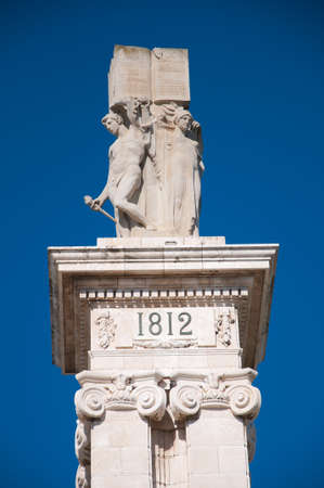Commemoration of the first Spanish constitution, promulgated in Cadiz. March 19, 1812