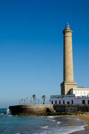 Lighthouse of Chipiona, the tallest in Spain Stock Photo