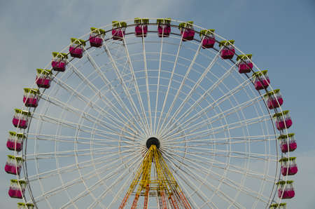 Ferris wheel of fair and amusement park photo