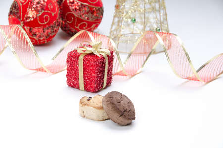 Composition of Christmas items photo