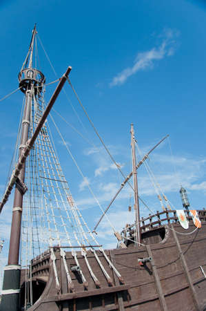 Stern of the replica of a Columbus s ship