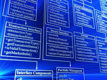 database structure - 3d background photo