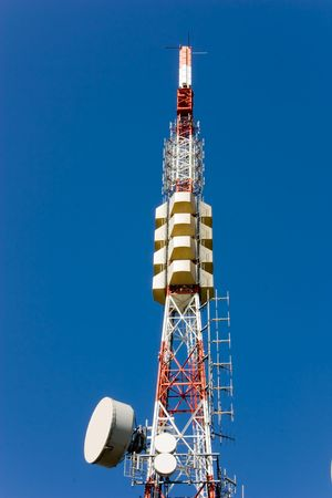 relay station, pylon with aerials for radio television transmission Stock Photo - 5577625