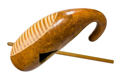 guiro, traditional musical instrument for rhythmic groove of latin music photo