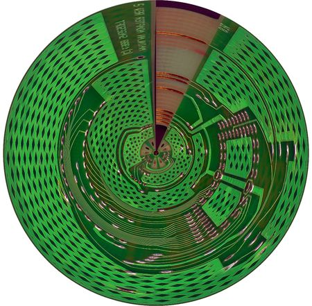 electronic board disc, isolated cybernetic disk photo
