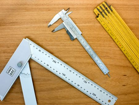 holdfast: instruments for measuring. caliper, square, measuring tape