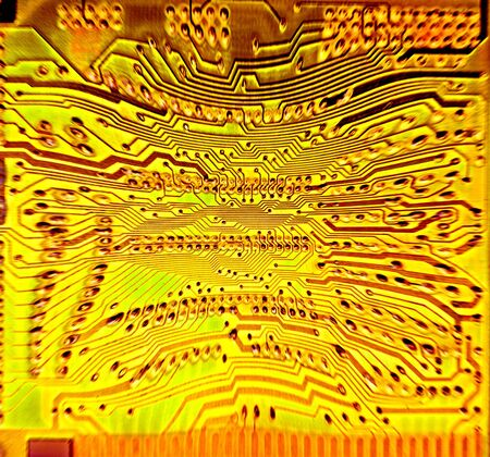 electronic wiring, printed circuit board for connecting components Stock Photo - 5752338